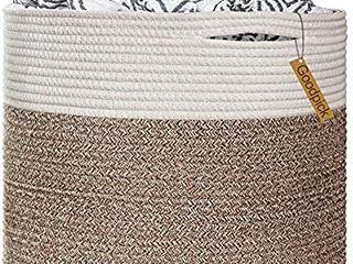 Goodpick large Cotton Rope Basket 15 8 x15 8 x13 8 Baby laundry Basket