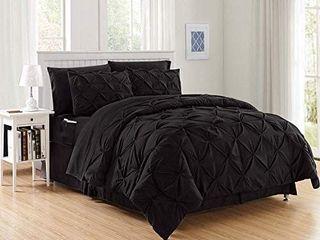 Elegant Comfort luxury Best  Softest  Coziest 8 Piece Bed in a Bag Comforter Set