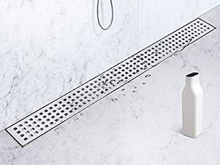 SaniteModar 24 inch linear Shower Drain with Removable Square