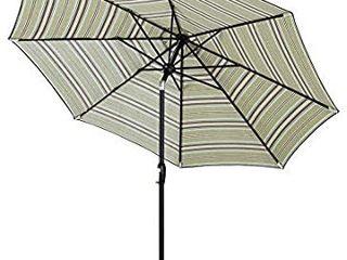 Tempera 9 Ft Patio Umbrella Outdoor Garden Table Umbrella with Push Button Tilt and Crank