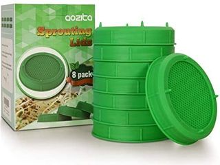 AOZITA 8 Pack Sprouting lids for Wide Mouth Mason Jars