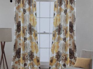 Yellow Room Darkening Curtain Panel Pair