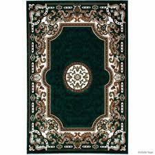 Hunter Green Vintage Floral 8x10ft Area Rug