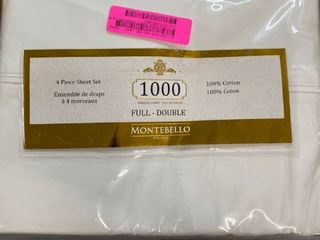 Montebello Cotton White Full Solid Sheet Set Retail 97 99