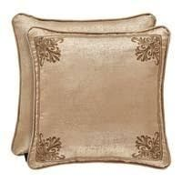 Gracewood Hollow Malonga Square Gold Pillow Set of 2