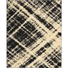8x10ft Black Nolan Contemporary Area Rug