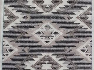 JY Sumak Neutral Diamond Kilim Area Rug