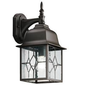Portfolio litshire 15 62 in H Oil Rubbed Bronze Outdoor Wall light