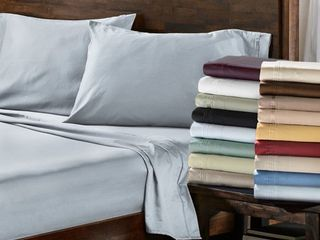 Superior Cotton Solid Pillowcase Set   King  Set of 2