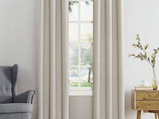 Sun Zero Hayden Energy Saving Blackout Grommet Curtain Panel Pearl 40 x 120