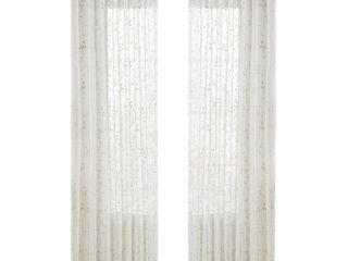 Surefit Home Decor Francis Pocket Rod Drapery Panel Ivory