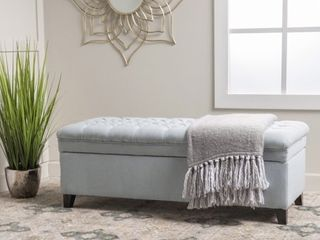 Hastings Tufted Fabric Storage Bench