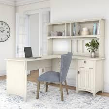 Antique White 60in Hutch for l Shaped Desk