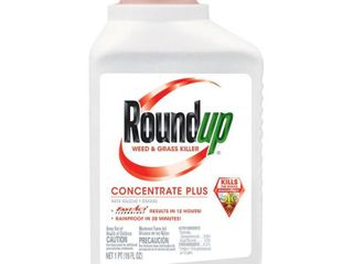 Roundup 5005510 Weed and Grass Killer Plus Concentrate Bottle  16 Ounce