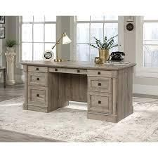 Grey Wood Finish Executive Desk