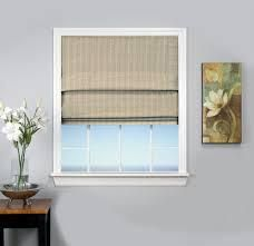 Grande Pointe Blackout Roman Shade Natural 38 x 63