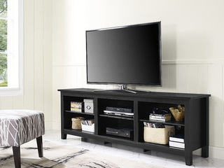 WalkerEdison Wood TV Media Storage Stand