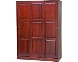 Mahogany Solid Wood 3 Door Wardrobe