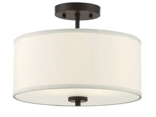 Meridian lite Salmons 2 light Semi Flush Mount Oil Rubbed Bronze