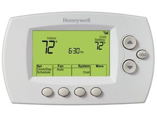 White 7 Day Thermostat w  WiFi Capability