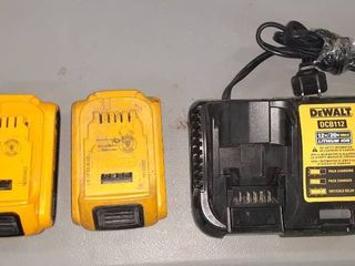 Dewalt lithium Ion Battery w  TWO Packs