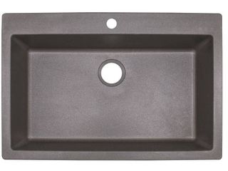 Franke DIG61091 Primo 33in Single Basin Granite Kitchen Sink for Drop In or Under  See photos