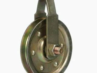 Two Gold Steel Garage Door Pulleys