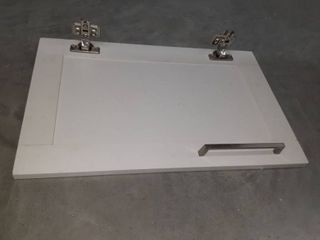 One White Cabinet Door w  Hinges   Handle