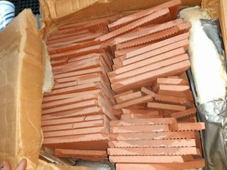 lot of Red Brick Colored Square Tiles