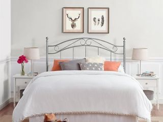 Irma Metal Full Queen Pewter Headboard
