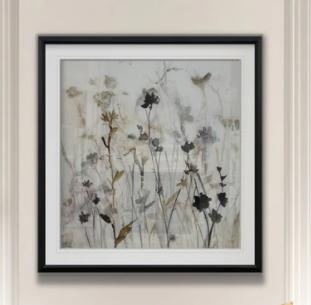 Wildflower Mist I  Custom Framed Print