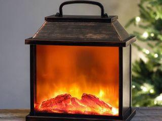Medium Faux Fireplace lED lantern