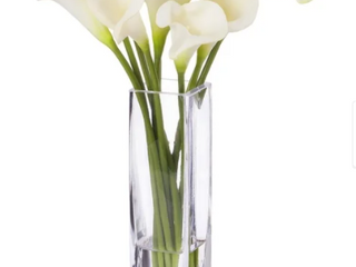 Genova Home Cream Real Touch Calla lily Flower Vase
