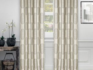 Impression Jarwick Textured Jacquard Curtain Set of 2 with Grommet Top Header