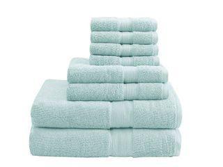 8pc Bath Towel Set Seafoam