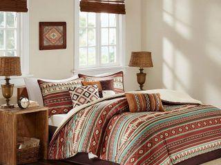Spice Duncan Printed Comforter Set  Queen  7pc