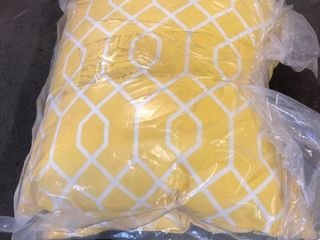 Outdoor Pillow Set Of Two 16 x 16 Yellow