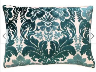 Rodeo Home Marsel Cut Velvet Floral Damask lumbar Pillow