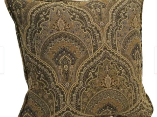 18 inch Corded Patterned Jacquard Chenille Square Throw Pillows  Set of 2