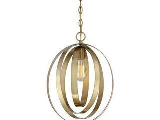 Meridian M70010 322 1 light Pendant   Exposed Natural Brass