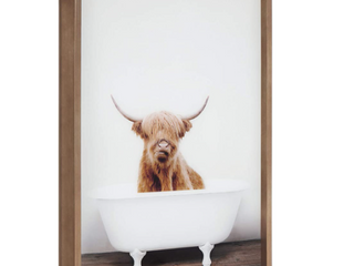 Kate And laurel Blake Highland Cow In Tub Picture
