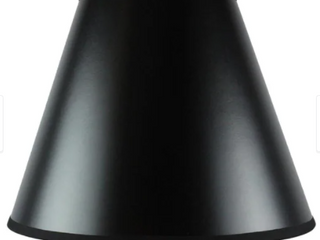 6 x 12 x 9 5 Bold Black Parchment lampshade   Set of 5
