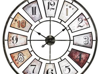 Aspire Home Accents  Morgan large Wall Clock 35  H 35  W 1 5  D