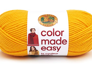 lion Brand Yarn Color Made Easy Tumeric