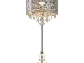 River of Goods Monroe Crystal and Polished Nickel 28 75  Buffet Table lamp