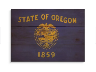 Oragon State Flag On Wood  Indoor And Outdoor