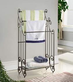 King s Brand Furniture  Black Metal Towel Rack