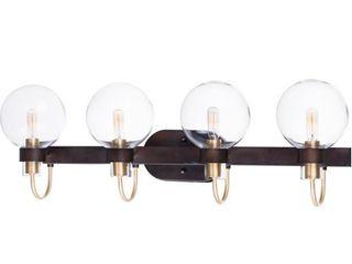 Maxim 30514Cl Bauhaus 4 light 33  Wide Bathroom Vanity light