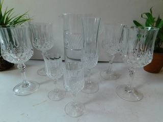 Cut Crystal Glassware Group  3
