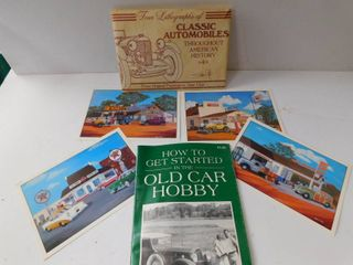 Old Hobby Car Postcards